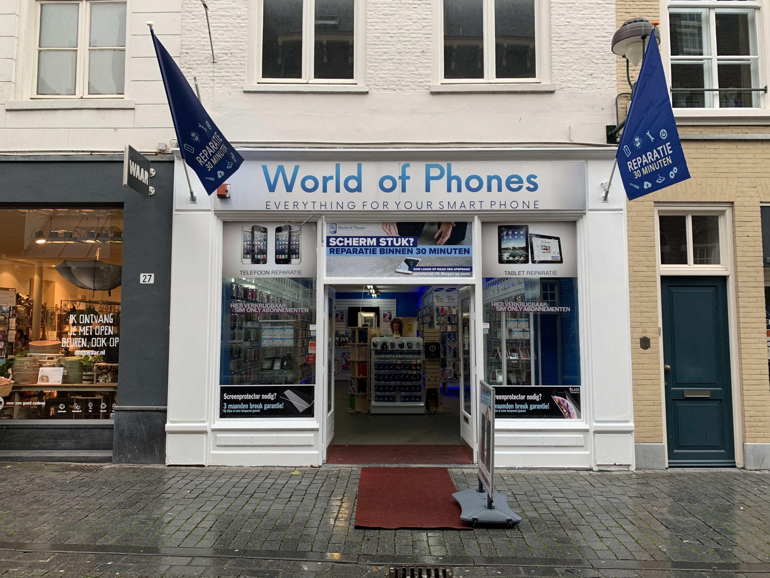 about World of Phones bergen op zoom telefoon reparatie